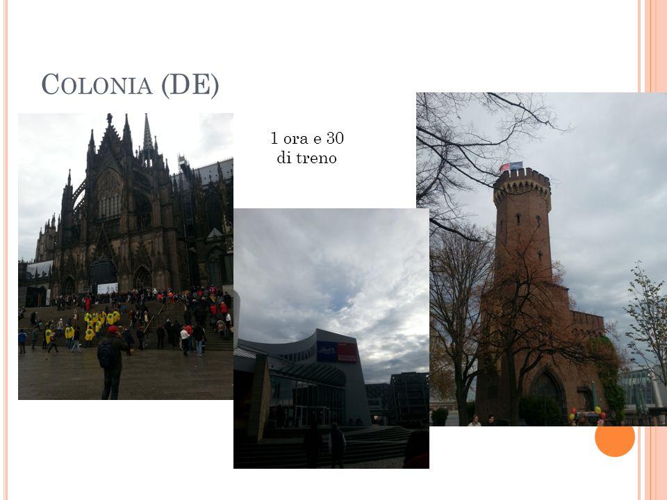 Colonia (DE) 1 ora e 30 di treno