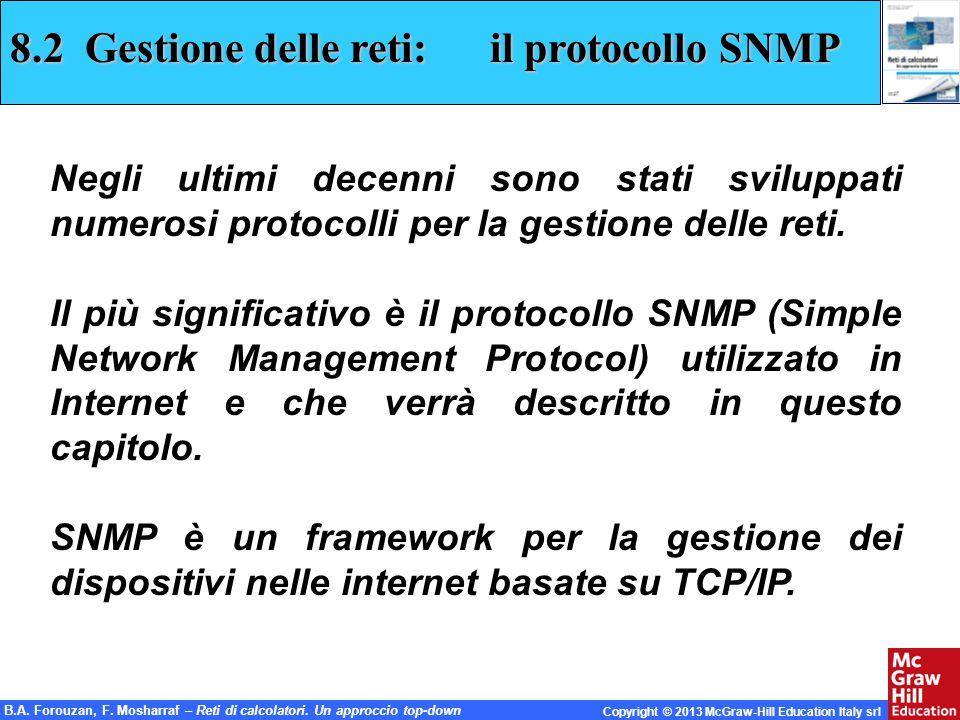 8.2 Gestione delle reti: il protocollo SNMP