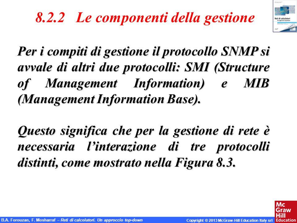 8.2.2 Le componenti della gestione