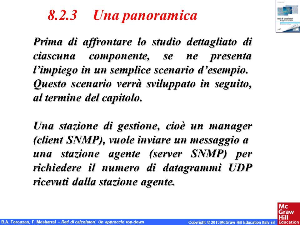 8.2.3 Una panoramica Prima di affrontare lo studio dettagliato di ciascuna componente, se ne presenta l'impiego in un semplice scenario d'esempio.