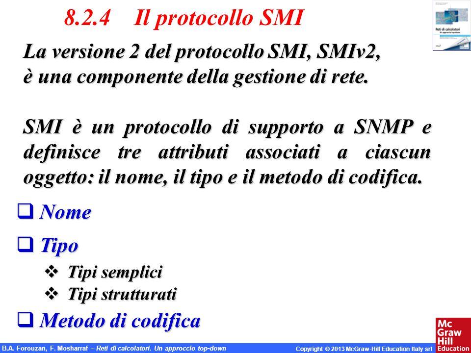 8.2.4 Il protocollo SMI La versione 2 del protocollo SMI, SMIv2,
