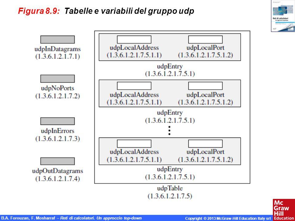 Figura 8.9: Tabelle e variabili del gruppo udp