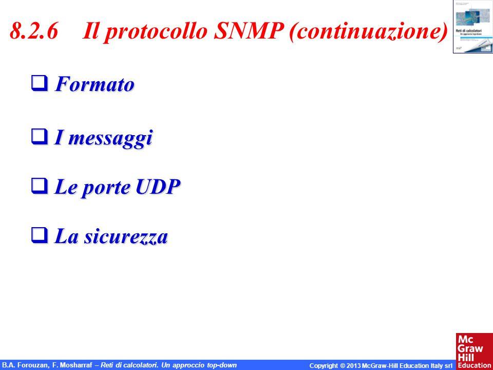 8.2.6 Il protocollo SNMP (continuazione)