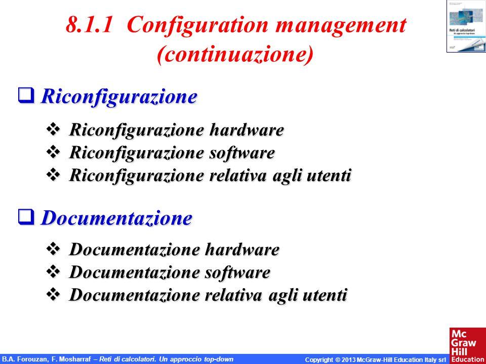 8.1.1 Configuration management
