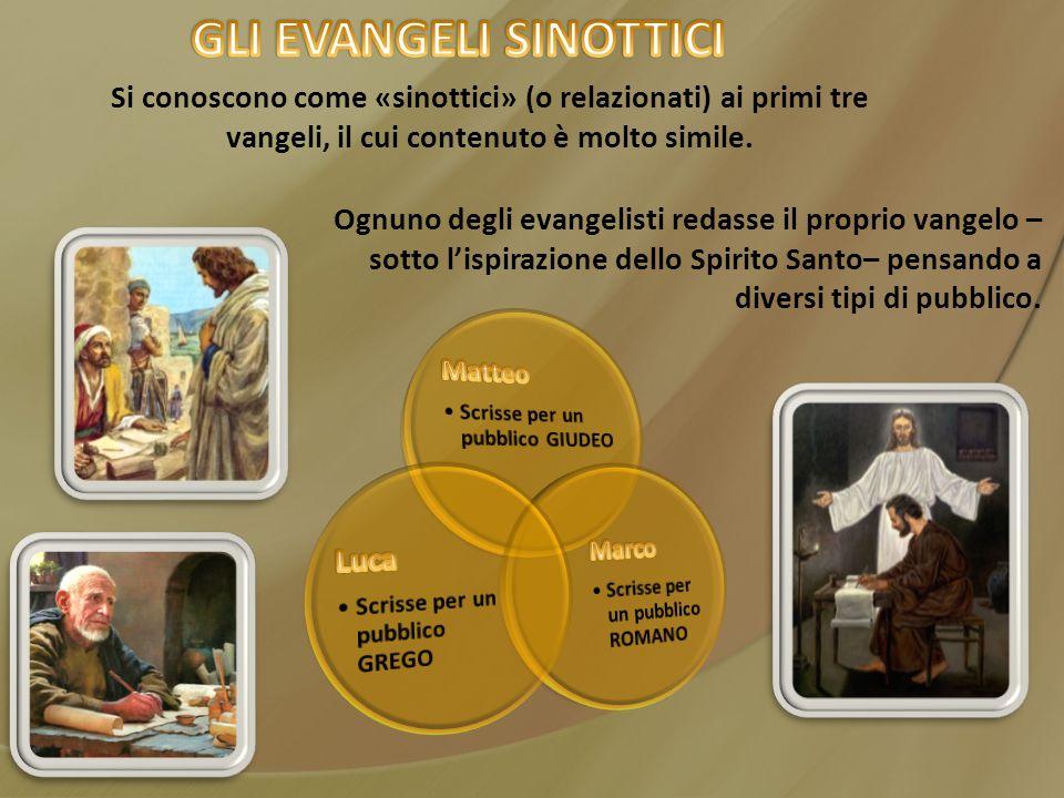GLI EVANGELI SINOTTICI