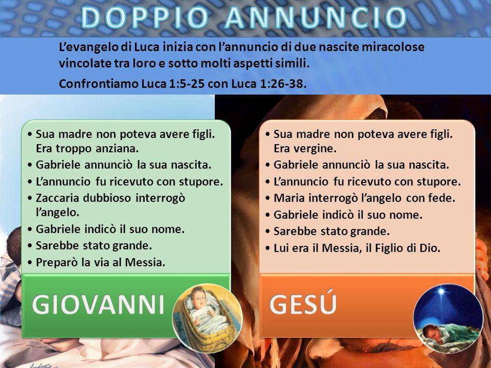 DOPPIO ANNUNCIO GIOVANNI GESÚ