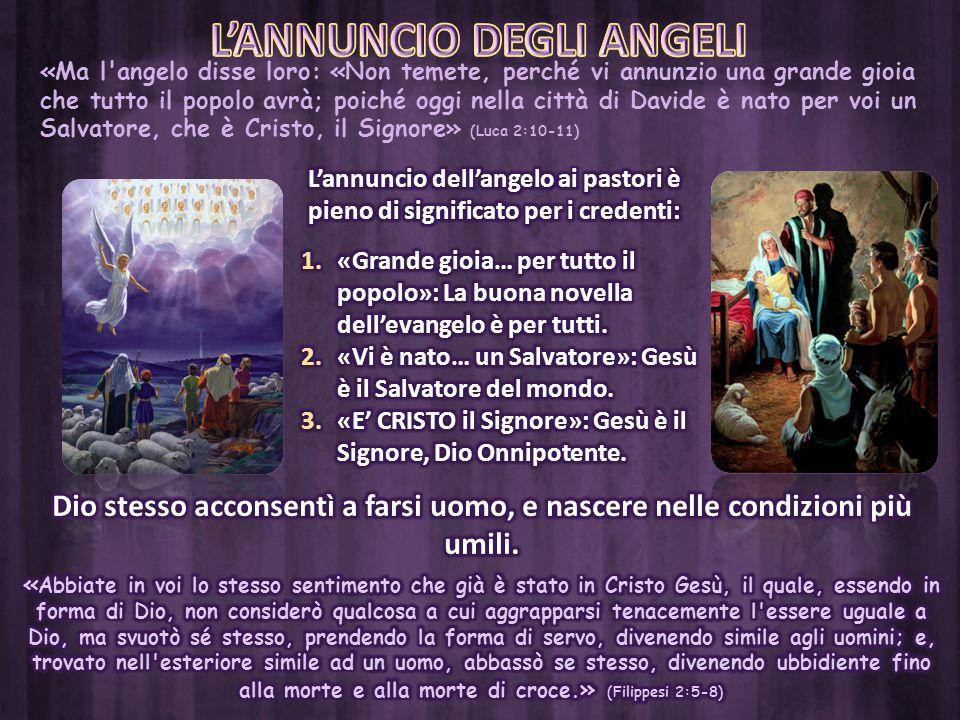 L'ANNUNCIO DEGLI ANGELI