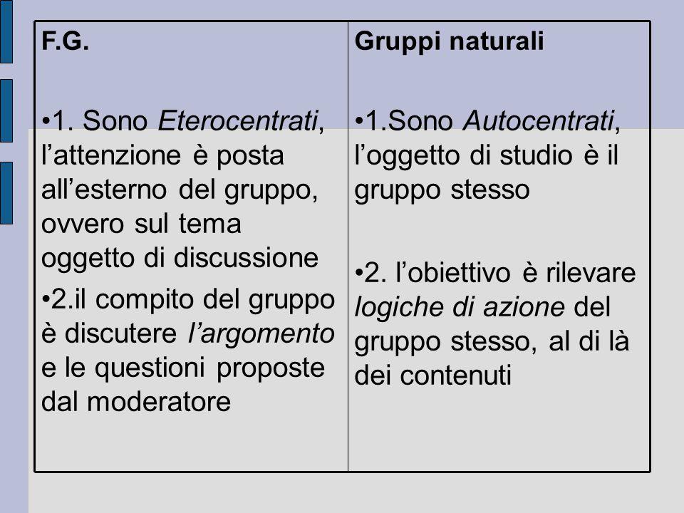 1.Sono Autocentrati, l'oggetto di studio è il gruppo stesso