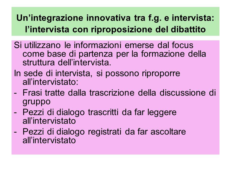 Un'integrazione innovativa tra f. g