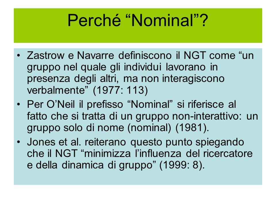 Perché Nominal