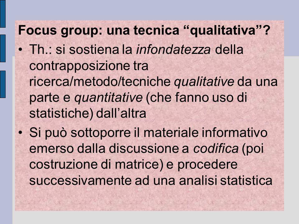 Focus group: una tecnica qualitativa