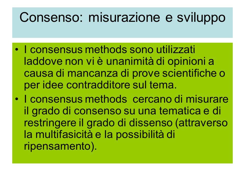 Consenso: misurazione e sviluppo