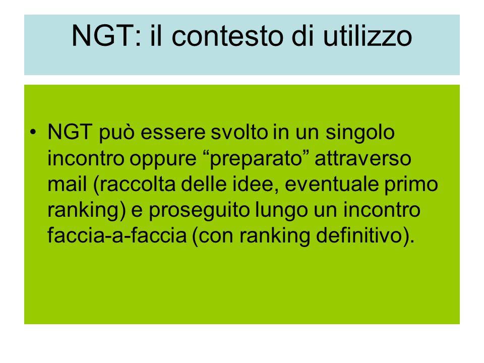 NGT: il contesto di utilizzo