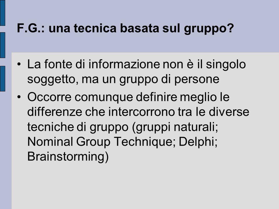 F.G.: una tecnica basata sul gruppo
