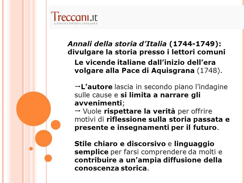 Annali della storia d'Italia (1744-1749): divulgare la storia presso i lettori comuni