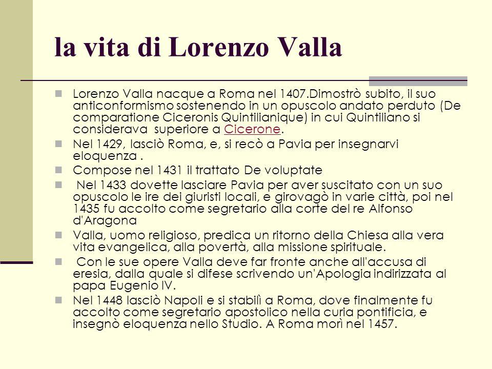 la vita di Lorenzo Valla