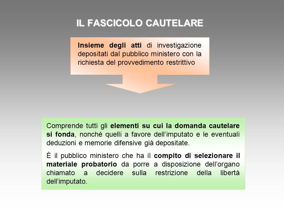 IL FASCICOLO CAUTELARE