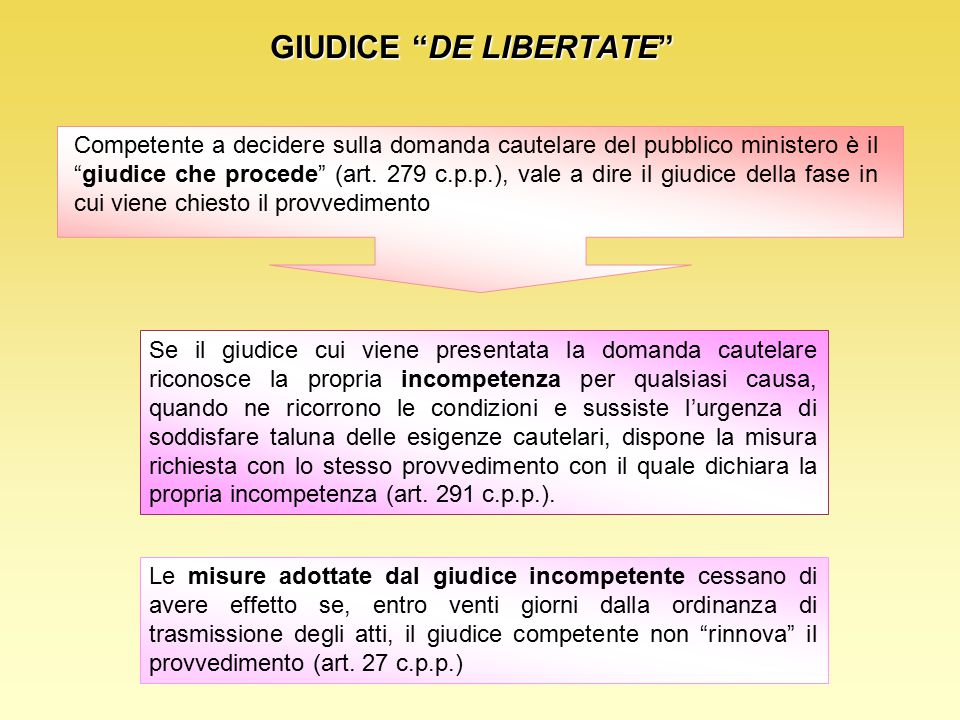 GIUDICE DE LIBERTATE