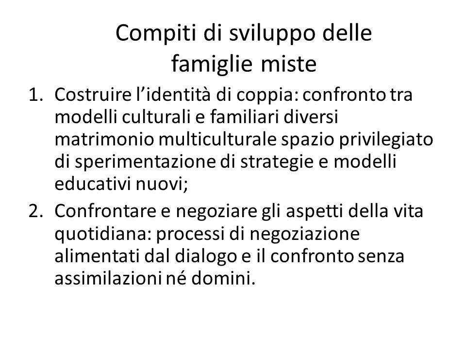 Compiti di sviluppo delle famiglie miste