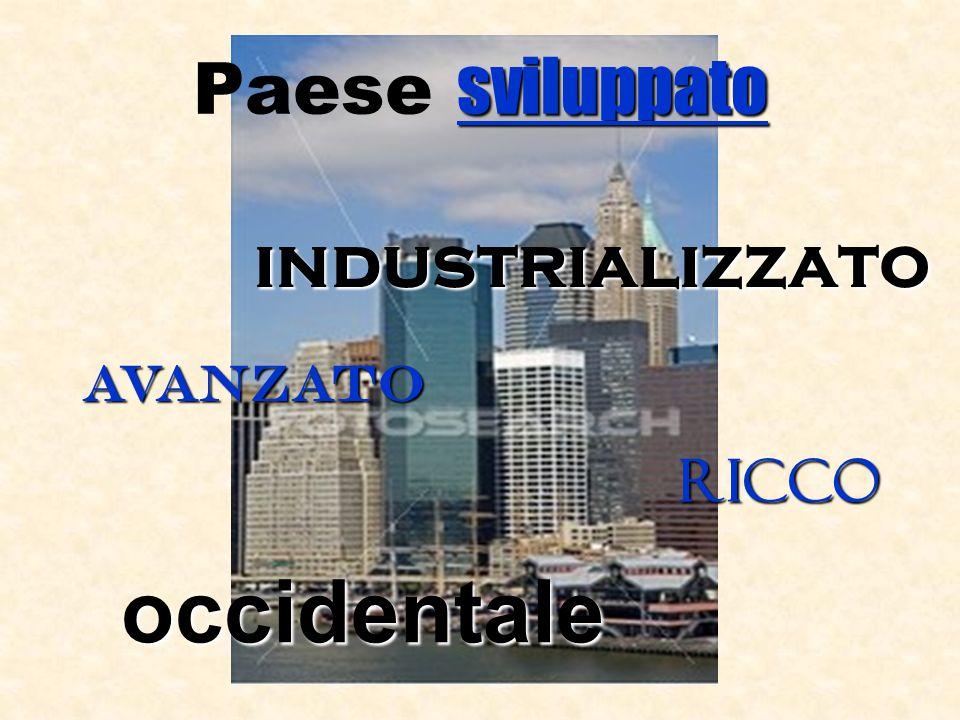 Paese sviluppato industrializzato avanzato ricco occidentale