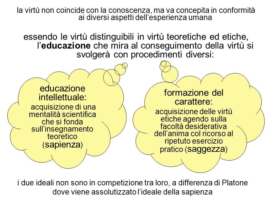 educazione intellettuale: formazione del carattere: