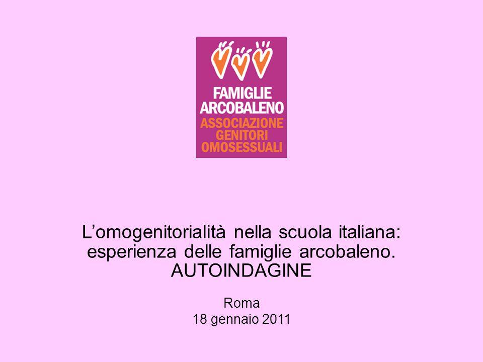 L'omogenitorialità nella scuola italiana: esperienza delle famiglie arcobaleno. AUTOINDAGINE