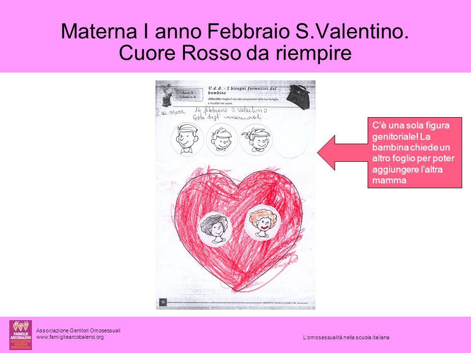 Materna I anno Febbraio S.Valentino. Cuore Rosso da riempire