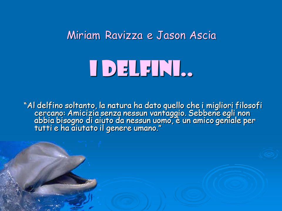 Miriam Ravizza e Jason Ascia I DELFINI..
