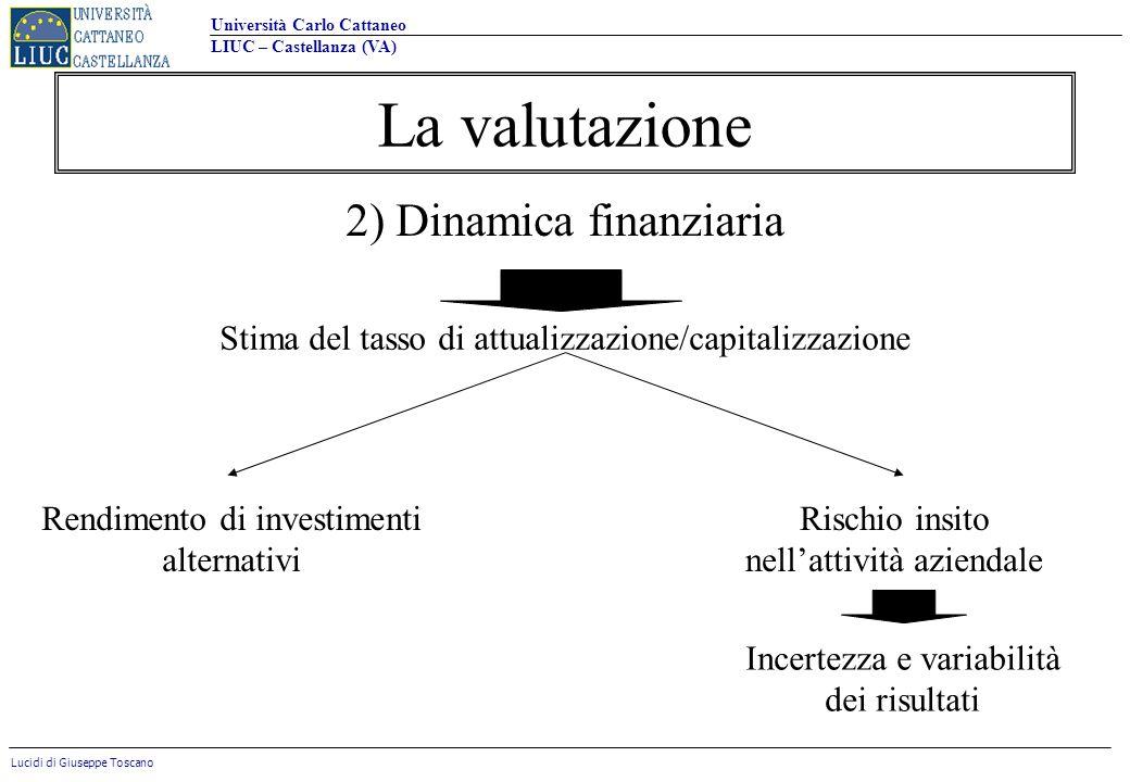 La valutazione 2) Dinamica finanziaria
