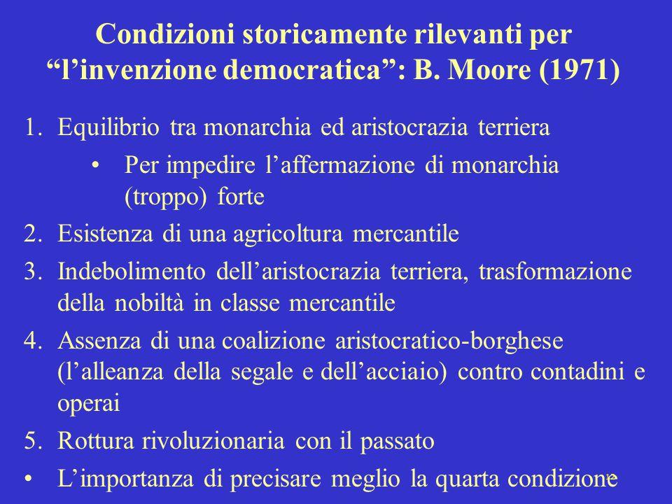 Condizioni storicamente rilevanti per l'invenzione democratica : B
