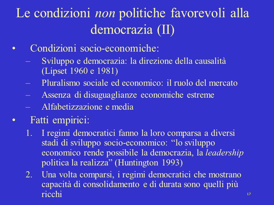 Le condizioni non politiche favorevoli alla democrazia (II)