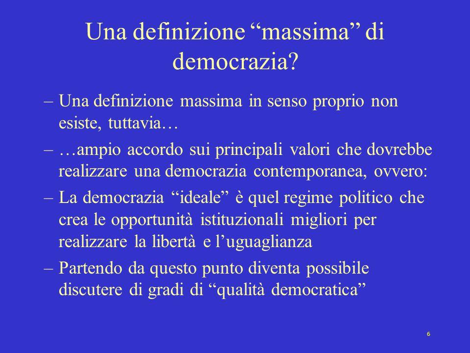 Una definizione massima di democrazia
