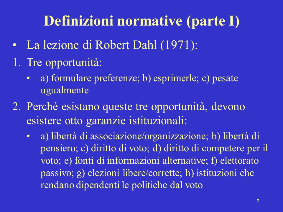 Definizioni normative (parte I)