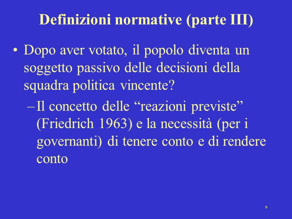 Definizioni normative (parte III)