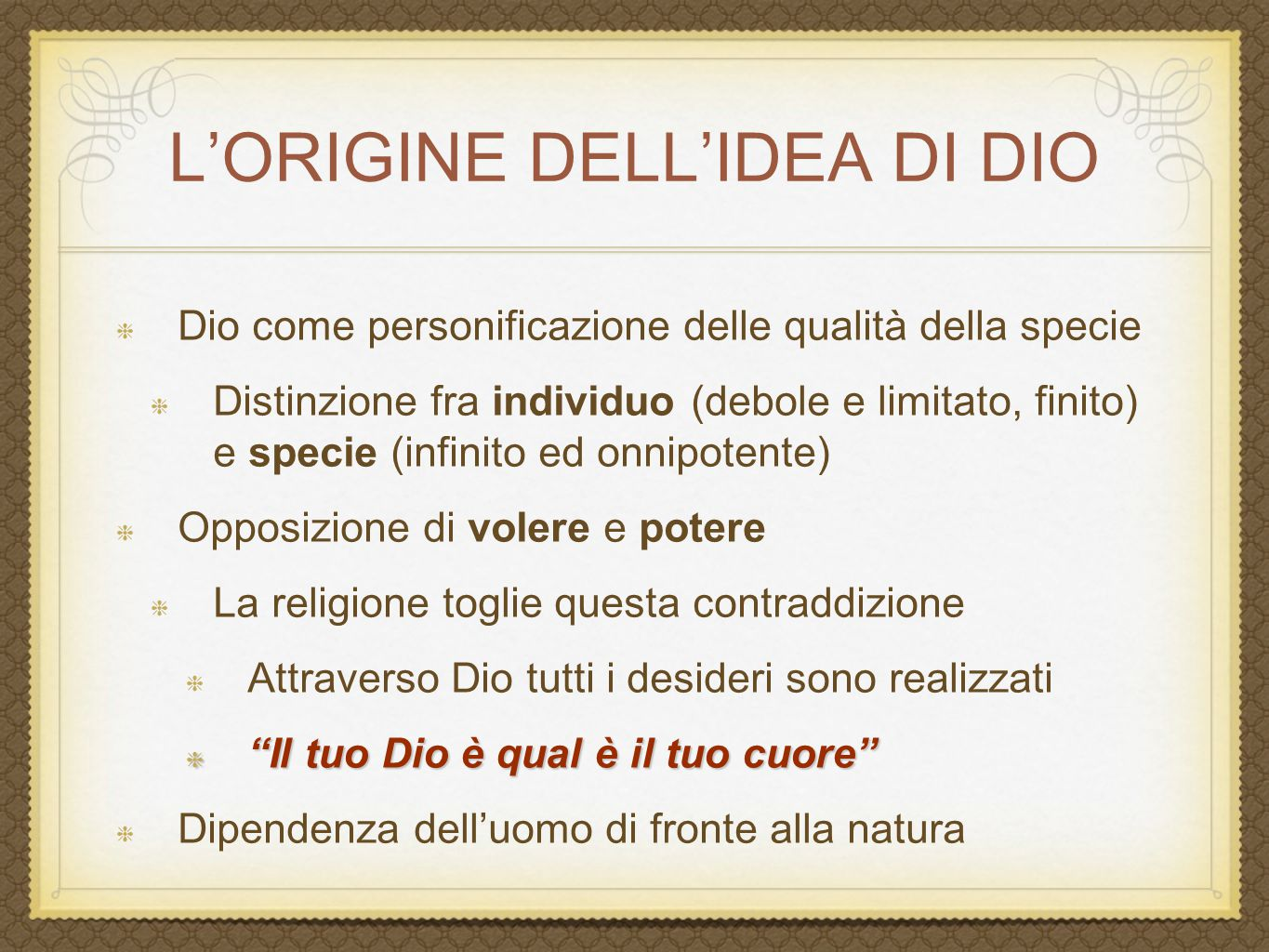 L'ORIGINE DELL'IDEA DI DIO