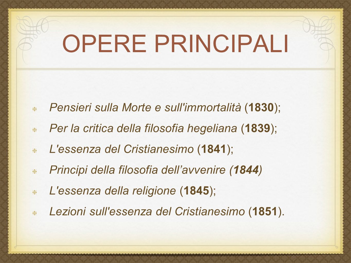 Souvent LUDWIG FEUERBACH. - ppt video online scaricare QF08