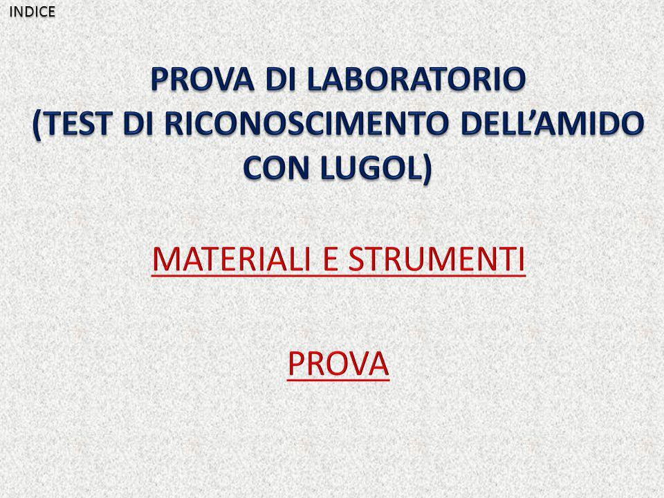 (TEST DI RICONOSCIMENTO DELL'AMIDO CON LUGOL)