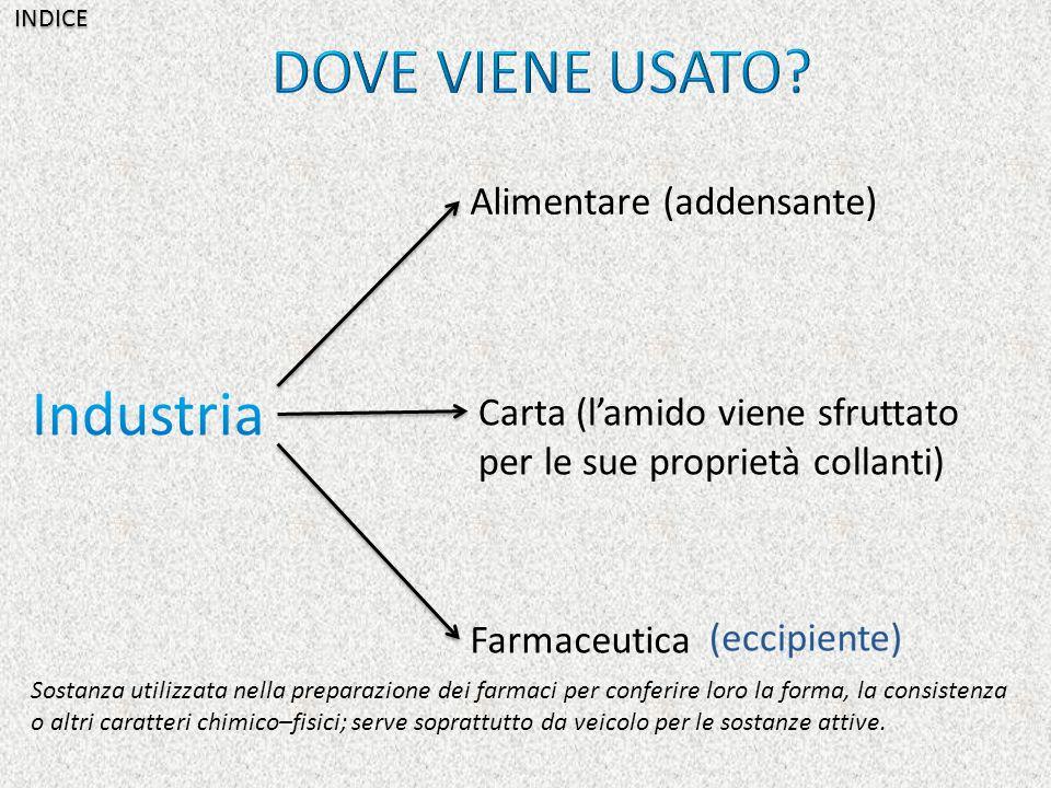 DOVE VIENE USATO Industria Alimentare (addensante)