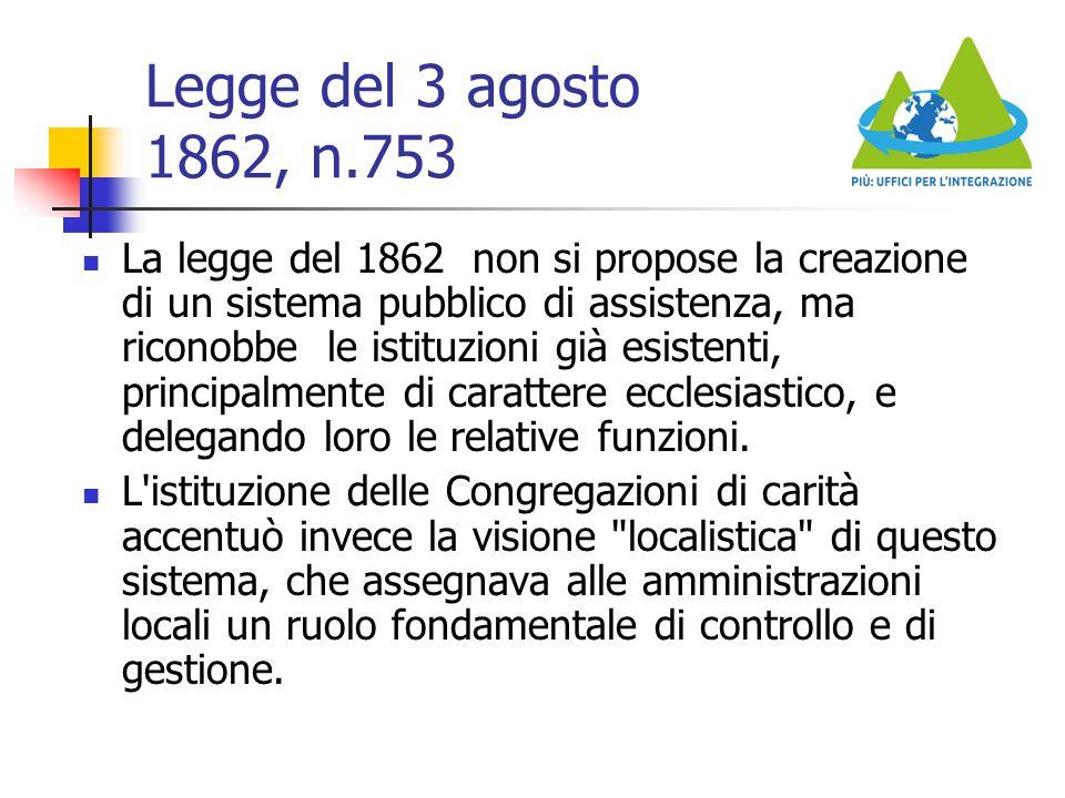 Legge del 3 agosto 1862, n.753