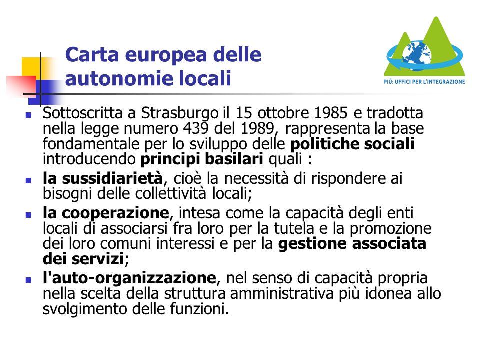 Carta europea delle autonomie locali