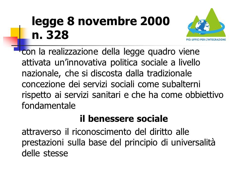 legge 8 novembre 2000 n. 328
