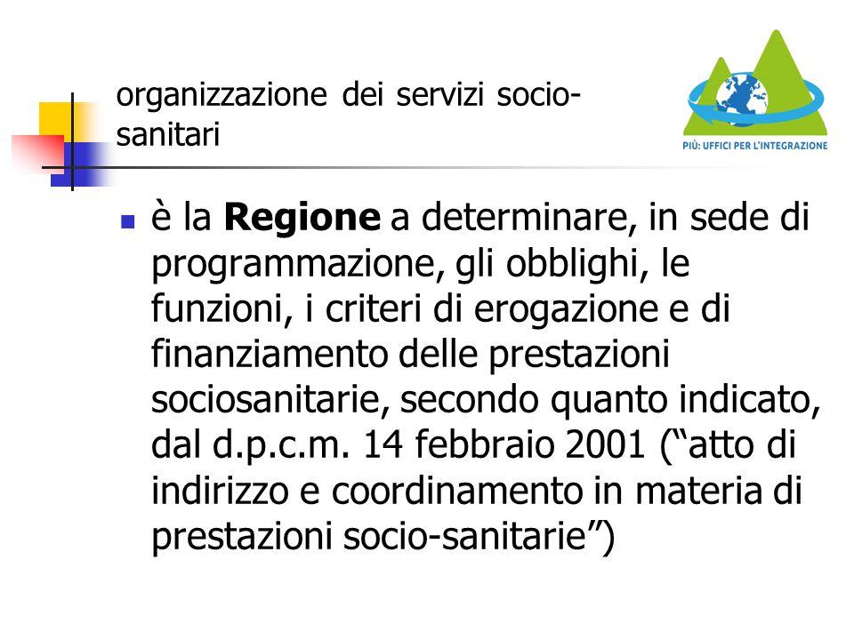 organizzazione dei servizi socio-sanitari