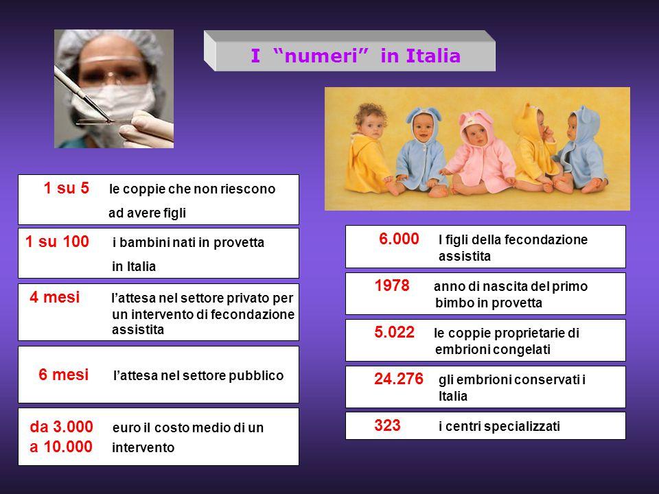 I numeri in Italia 1 su 5 le coppie che non riescono