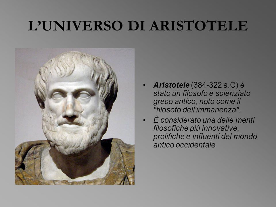 L'UNIVERSO DI ARISTOTELE