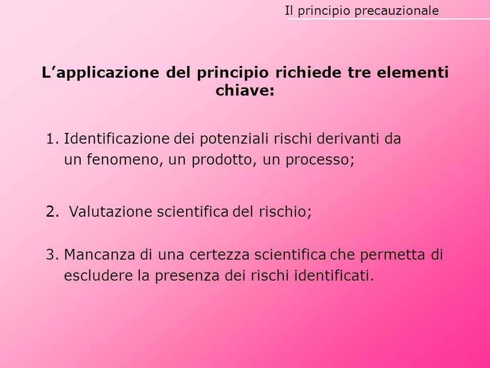 L'applicazione del principio richiede tre elementi chiave: