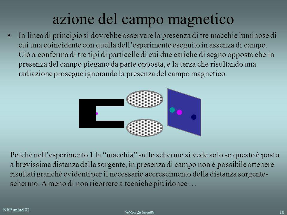 azione del campo magnetico