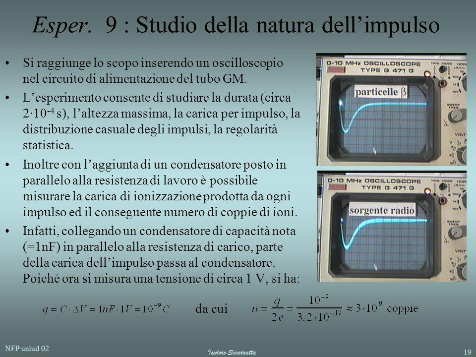 Esper. 9 : Studio della natura dell'impulso