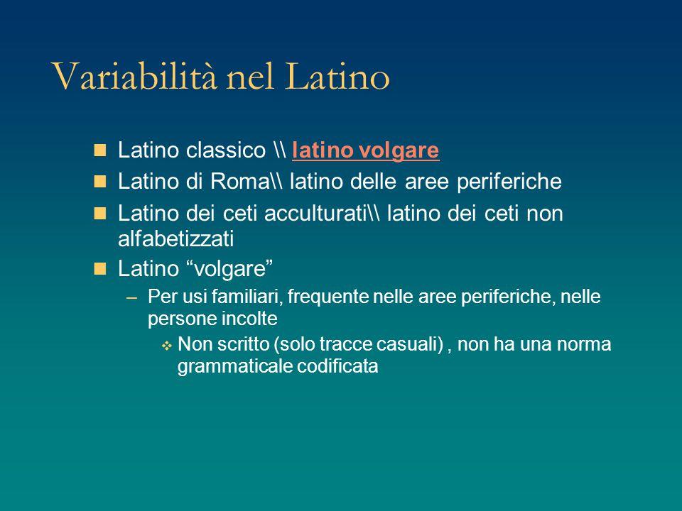 Variabilità nel Latino