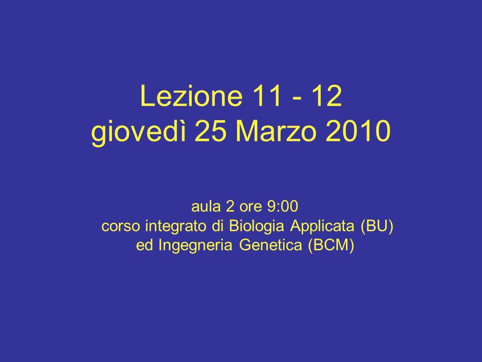 Lezione 11 - 12 giovedì 25 Marzo 2010