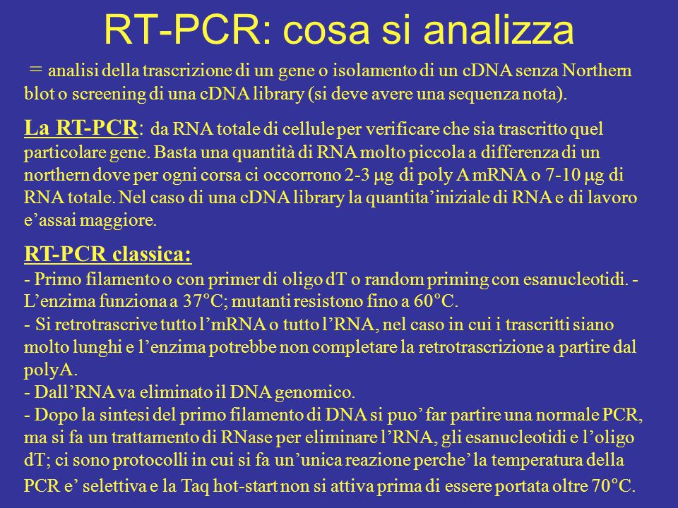 RT-PCR: cosa si analizza